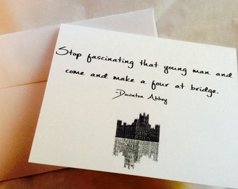 Downton Abbey Notecard