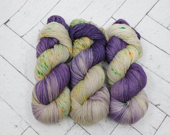 Crocus Hand-dyed Superwash Sock Yarn