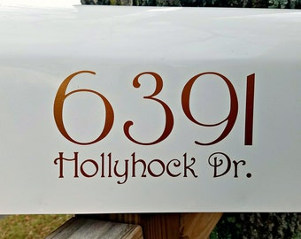 Address Decal | Victorian Style Mailbox Decals (2 sets) | Mailbox Numbers & Letters