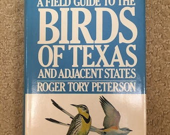 vintage Peterson Field Guide to the Birds of Texas book Roger Tory Peterson hardback dust jacket 1963 5th printing bird guide, birding book