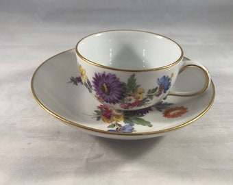 Meissen coffee cup and saucer