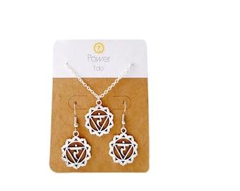 Yoga Necklace Earring Set Gift Solar Plexus Chakra Manipura