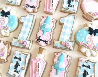 Alice in wonderland (ONEderland) cookie set