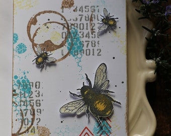 Grungy Bee card