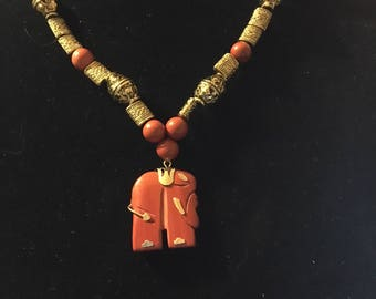 Red and Gold Elephant