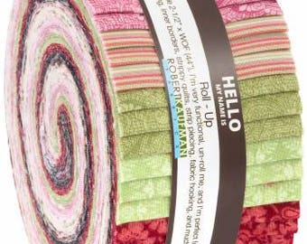Coventry Garden 2-1/2 Inch Strips Jelly Roll, 40 Pieces, Robert Kaufman, Precut Fabric, Quilt Fabric, Cotton Fabric, Floral Fabric