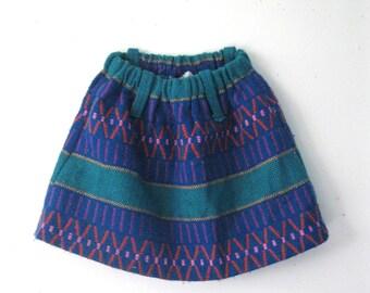 Vintage Children's woven skirt / Boho Hippie girls skirt