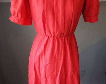 Vintage Short Sleeve Red Dress by Germaine Petite