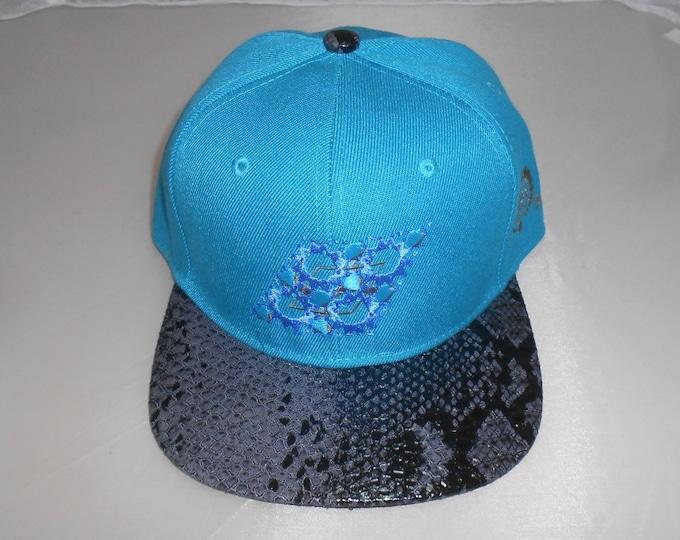 Snapback Flat-Brim Hat - Beryl (One-of-a-kind)