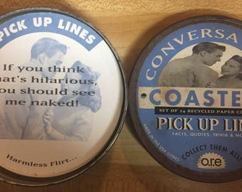 Vintage Adult Conversational Coasters 24 in all