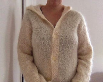 Hand Knit Hooded Sweater