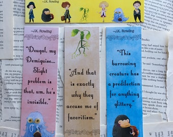 Fantastic Beasts bookmarks set 2 of 2