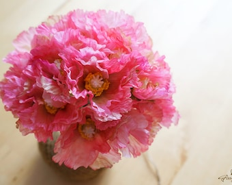 Artificial poppy etsy clearance was 794 5 pink poppies fb0006 04 silk flower artificial flower flower headpiece wedding dcor millinery home mightylinksfo