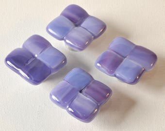 Lavender glass cabinet knobs, Purple knobs, Lilac colors handmade knobs/hooks, made in Michigan