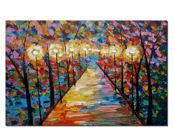 Autumn Painting, Landscape Painting, Wall Art, Abstract Art, Oil Painting, Oil Painting, Abstract Painting, Large Art, Canvas Art, Wall Art