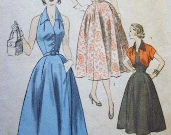 1950s Halter Dress Pattern/ Bolero Sewing Pattern/ Advance 6397 /Bust 32 /ORIGINAL NOT A REPRODUCTION