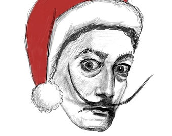 Have a Jolly Dali Christmas // set of 5 holiday cards