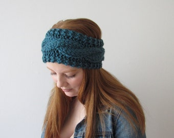 Knit Cable Headband| THE MAGGIE |