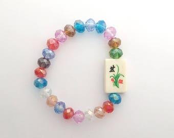 Bubble Gum Fun Mahjong Bracelet