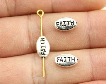 20 Faith Charms, Antique Silver Tone (1J-159)