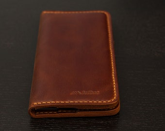 SALE-50% Long Wallet Mens leather wallet Leather long wallet Long leather wallet Mens wallet Personalized wallet Wallet for Him Leather