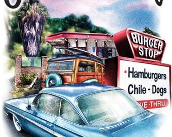 San Clemente California featuring Burger Stop