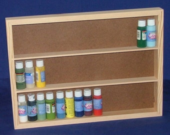 Pine Craft and Tole Paint Storage Shelf