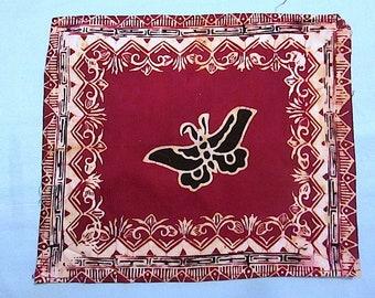 "6 Vintage 10"" Square Batik Semar Napkins/ Handkerchiefs / Cultural Cloths / Made in Indonesia"