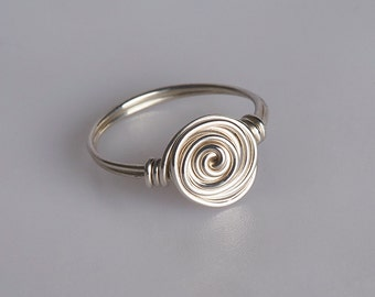 Wire Wrapped Sterling Silver Ring