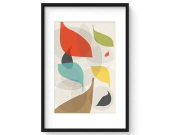 FLOW no.41 - Giclee Print - Mid Century Modern Danish Modern Style Minimalist Modernist Eames Abstract