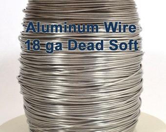 18ga Aluminum Wire - Dead Soft - Choose Your Length