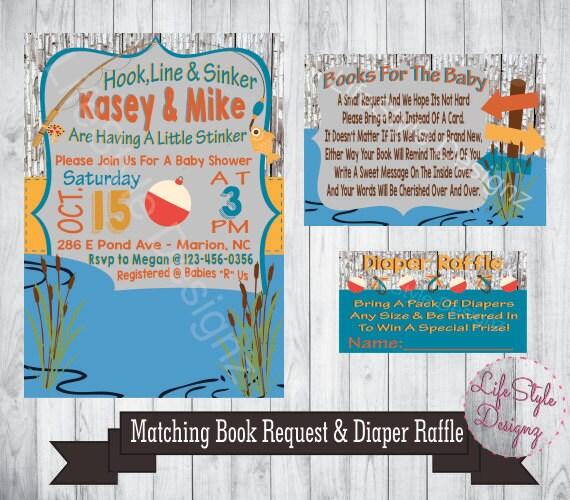 Fish Themed Baby Shower Invitations: Fishing Baby Shower Invitation Fish Theme Its A Boy Baby