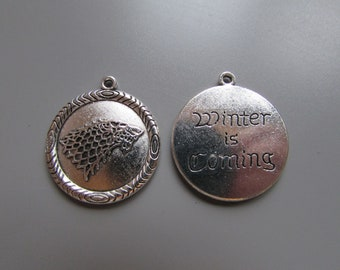 Game of Thrones Winter is Coming Jewellery Charm LARP