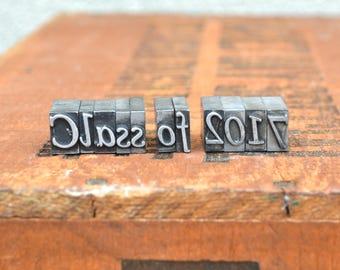 Class of 2017 - Vintage letterpress metal type collection - graduation, gift for graphic designer, gift for art student TS1036