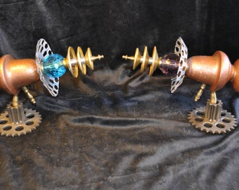 "Ray Guns "" The QUINTESSENTIAL SISTERS RAYGUNS "" Table Top Steampunk Sci-fi Victorian Industrial"