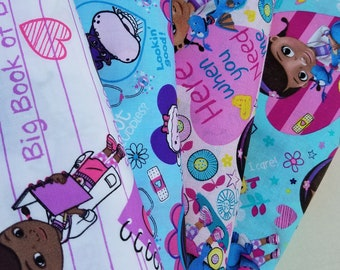Doc McStuffins Cotton Fabric, Disney Cotton  Fabric by the Yard