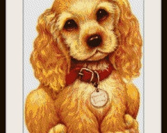 Cute Puppy, cross stitch pattern, cross stitch dog, dog pattern, dog, dog cross stitch, puppy pattern, puppy, PDF pattern, instant download