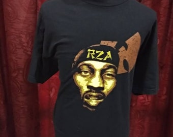 Vintage rare RZA Bobby Digital wu tang clan logo hip hop style band tshirt/beastie boy/run dmc/public enemy/the notorious/2 pac syakur