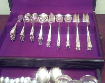 Eternally Yours by 1847 Roger Bros. International Silver plate silverware complete service for 8