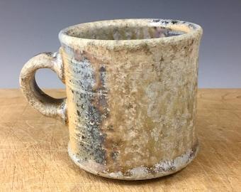 Medium Goldenrod and Rainbow Wood-fired Mug