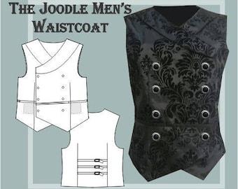 The Joodle Men's waistcoat digital sewing pattern