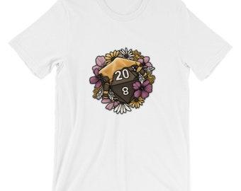 Honeycomb D20 Short-Sleeve Unisex T-Shirt - D&D Tabletop Gaming