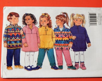 Butterick 4106 Very easy to sew childrens' winter outerwear pattern - dress, top, skirt and pants Uncut Sizes extra small to large