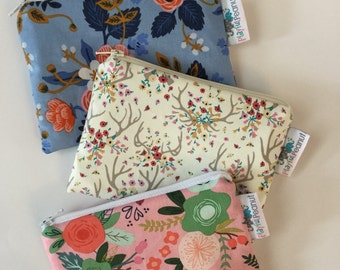 Reusable Snack Bag, Reusable Zipper Bag, Reusable Sandwich Bag, Zipper Pouch, Reusable, Floral Snack Bag, Lunch Bag, Reusable Bag, Antlers