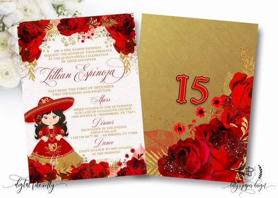 Mis 15 Anos Bracelet: Fiesta Quinceañera Invite Charro Quinceañera Birthday