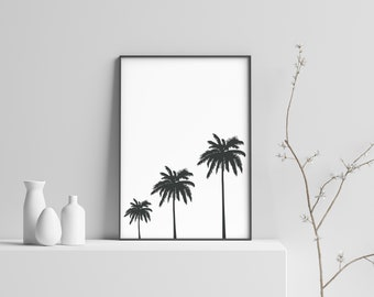 Palm Trees Modern Beach Print Poster