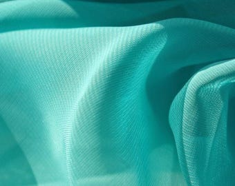 Aqua Splash Chiffon - 58 Inches Wide