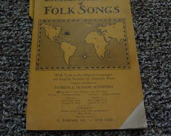 Botsford Collection of Folk Songs With Texts in the Original Languages and English Versions by American Poets