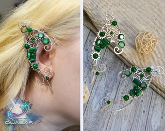 "Elven ear cuffs ""Gears forest"" | Steampunk elven ear cuffs, wire ear cuffs, elven ears, elvish, steampunk elf, steam punk ear cuffs"