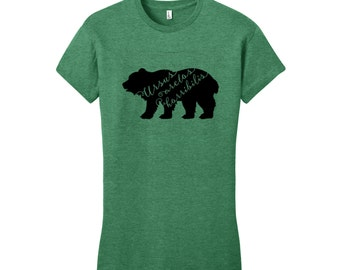 Grizzly Bear Shirt Grizzly Bear T Shirt Typography T Shirt Funny Women's TShirts Hipster Shirt Funny Science T Shirt Environmentalist Shirt